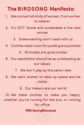 Birdsong Manifesto