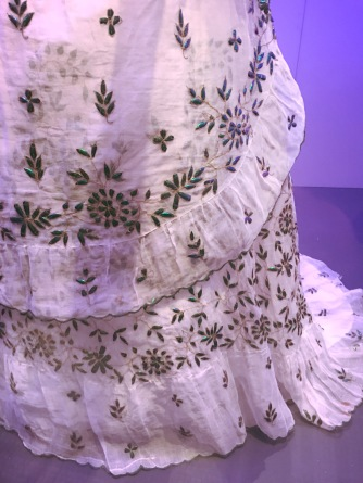 Dress | Cotton, gilded metal thread and Indian jewel beetles