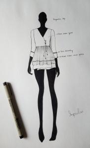 Suparna Som Angrakha top sketch